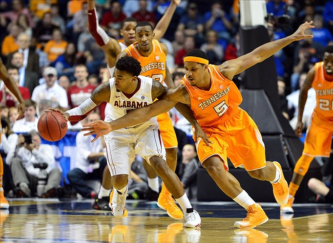 Image result for Alabama vs Tennessee basketball