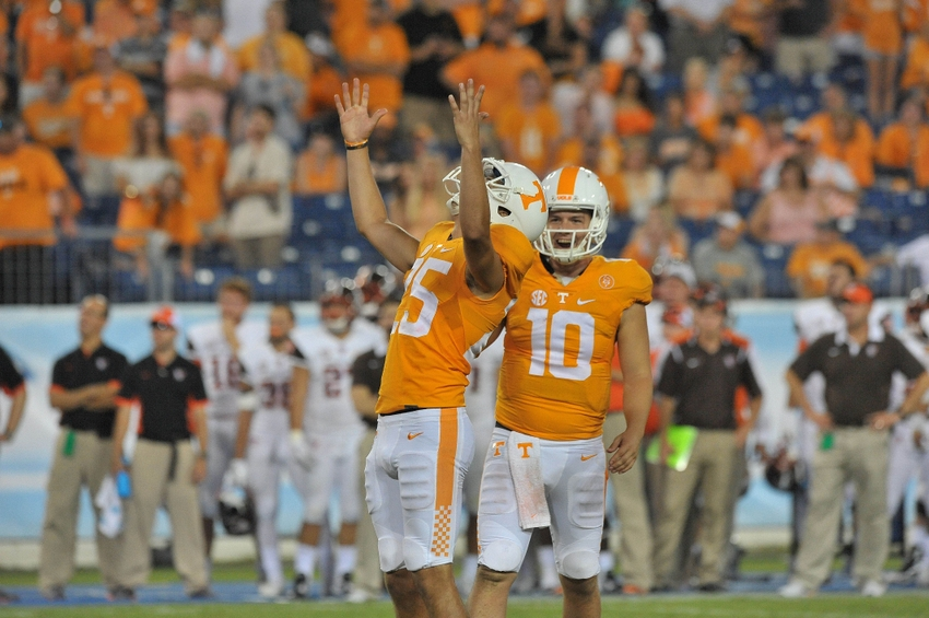 Tennessee football 2016 preview by position special teams sep 5 2015 nashville tn usa tennessee volunteers place kicker aaron publicscrutiny Gallery